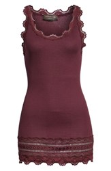 Rosemunde Silk And Cotton Rib Knit Tank Bourgogne