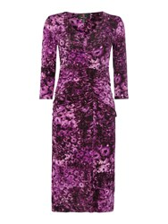 Simon Jeffrey Ruched Front Dress Purple
