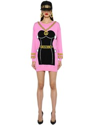 Moschino Bustier Intarsia Cotton Knit Dress