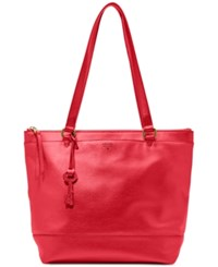 Fossil Gifting Leather Shopper Real Red