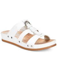 Bare Traps Cella Memory Foam Slip On Sandals Women's Shoes White