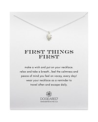 Dogeared First Things First Tropical Leaf Necklace 18 Silver