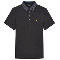 Lyle And Scott Woven Collar Polo Shirt Charcoal
