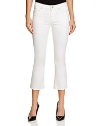 Joie Crop Flare Jeans In Porcelain