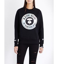 Aape By A Bathing Ape Circle Logo Print Jersey Sweatshirt Black