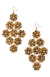 Leith Floral Chandelier Drops Burnish Gold