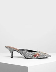 Charles And Keith Floral Embroidery Mules Multi