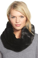 Women's Badgley Mischka Faux Fur Infinity Scarf