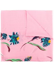 Paul Smith Floral Scarf Pink And Purple