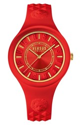 Versus By Versace 'Fire Island' Silicone Strap Watch 39Mm