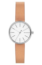 Skagen Women's Round Leather Strap Watch 30Mm