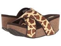 Volatile Blade Brown Giraffe Women's Sandals Animal Print