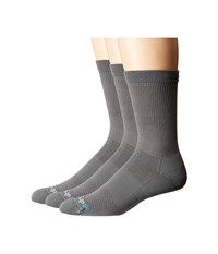 Drymax Sport Performance Casual Crew 3 Pair Anthracite Crew Cut Socks Shoes Pewter