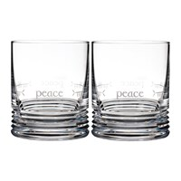 Waterford Ogham Dof Tumbler Set Of 2 Peace