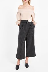 Tibi Women S Cecil Cropped Trousers Boutique1 Black Multi