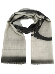 Lost And Found Radiography Printed Scarf Grey