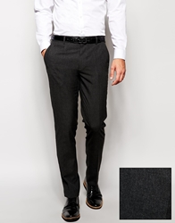 Asos Skinny Fit Smart Trousers Charcoal