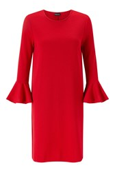 James Lakeland Tulip Sleeve Knitwear Dress Red