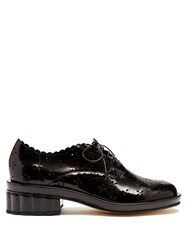 Simone Rocha Broderie Anglaise Cut Out Leather Brogues Black