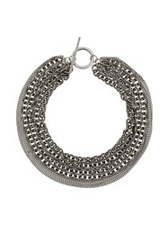 Ann Demeulemeester Chain Link Necklace Silver