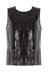 Dkny Sequin Embellished Sleeveless Top Black