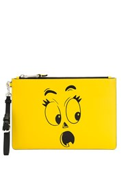 Moschino Face Print Clutch Bag 60