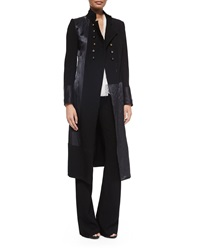Donna Karan Double Breasted Combo Military Coat