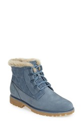 Women's Helly Hansen 'Vega' Waterproof Leather Boot Arctic Blue Natural
