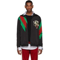 Gucci Black Oversized Panther Jacket