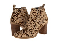 Dr. Scholl's London Original Collection Tan Black Dot Pony Women's Pull On Boots Animal Print