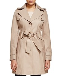 Via Spiga Hooded Pleated Trench Coat Sand