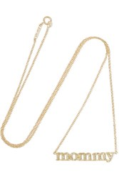 Jennifer Meyer Mommy 18 Karat Gold Diamond Necklace