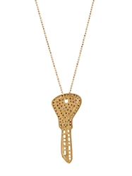 Carolina Bucci Diamond Sapphire And Yellow Gold Necklace