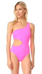 Solid And Striped The Claudia One Piece Swimsuit Hot Pink