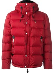 Burberry Hooded Puffer Jacket Red