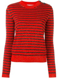 Carven Striped Jumper Yellow And Orange