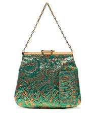 Bienen Davis 4Am Floral Brocade Clutch Green Multi