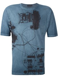 Diesel Black Gold 'Tastersiu X Ray' T Shirt Blue