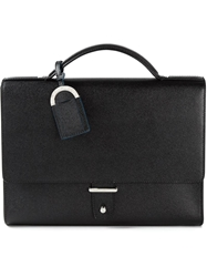 Bulgari Flap Briefcase Black