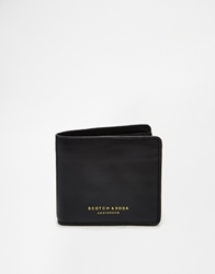 Scotch And Soda Leather Billfold Wallet Black