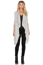Heather Waterfall Cardigan Gray