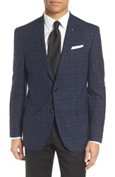 Ted Baker Men's London Jed Trim Fit Plaid Wool Sport Coat