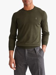 Ralph Lauren Polo Merino Wool Jumper Oil Cloth Green