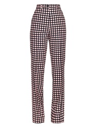 Bottega Veneta Polka Dot Print Straight Leg Trousers