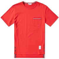 Thom Browne Medium Weight Jersey Pocket Tee Red