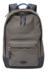 Men's Fossil 'Estate' Canvas Backpack Grey