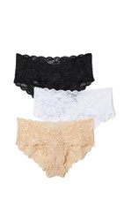 Cosabella Never Say Never Hottie Hotpant 3 Pack Black White Blush