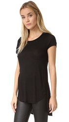 Chrldr Noir High Side Slit Tee Black