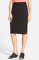 Eileen Fisher Side Slit Pencil Skirt Black