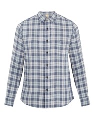 Faherty Reversible Belmar Checked Cotton Shirt Navy Multi